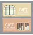 Gift Voucher Template with variation of Windows vector image vector image