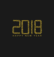 golden numbers 2018 vector image