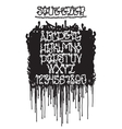 Graffiti squeezer font vector image vector image