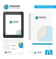 graph business logo tab app diary pvc employee vector image vector image