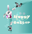 happy easter background 7 vector image