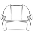 hockey helmet vector image vector image