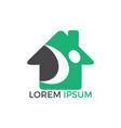 home care logo logo design vector image vector image