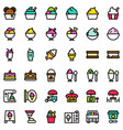 ice cream icon set filled editable outline vector image