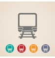 icon train metro underground or subway train vector image