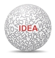 Idea text graphic concept vector image