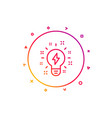 inspiration line icon creativity light bulb sign vector image