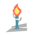 Isolated cartoon blue torch tree light up your day vector image vector image