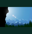 landscape forest in mountain in day vector image vector image