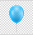 light blue realistic balloon vector image vector image