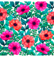 luminous tropical background with 3d style flowers vector image vector image