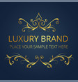 luxury brand gold text template modern design vect vector image vector image