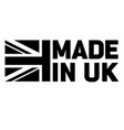 made in britain united kingdom uk logo black white vector image vector image