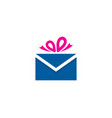 mail gift logo icon design vector image