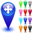 Map button vector image vector image