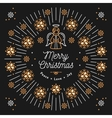 Merry Christmas card Xmas religious poster vector image vector image