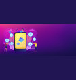 mobile content concept banner header vector image vector image