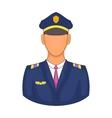 Pilot icon in cartoon style vector image vector image