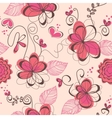 pink romantic seamless pattern vector image
