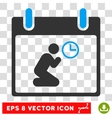 Pray Time Calendar Day Eps Icon vector image
