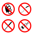 Prohibitory signs vector image