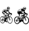 race bicyclists sketch vector image vector image