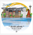 republic of finland landmark travel and journey vector image