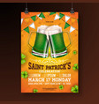 saint patricks day party flyer vector image vector image