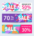 sale banners discount coupons template set vector image vector image