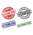 scratched textured naturism zone stamp seals vector image vector image
