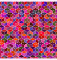 seamless pattern 3d square random colors vector image vector image