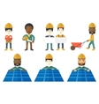 set of constructors and builders characters vector image vector image