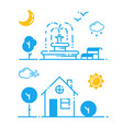 set of weather icons season vector image vector image