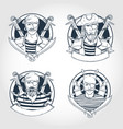 set pirate vector image vector image