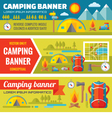 Summer camping - mountain expedition adventures vector image