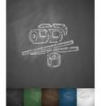 sushi icon Hand drawn vector image vector image
