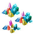 the stage of formation of multicolored crystalline vector image vector image