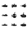 transit icons set simple style vector image vector image
