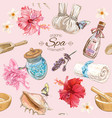 Tropic style spa pattern vector image vector image