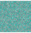 turquoise floral ornament vector image
