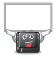 up board f7 button installed on cartoon keyboard vector image vector image