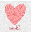 Valentine background wiht ornate heart vector image vector image