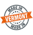 Vermont orange grunge ribbon stamp on white vector image vector image