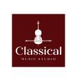 vintage violin or cello logo design inspiration vector image vector image