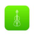 violine icon green vector image vector image