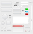web interface buttons set of 3d icons vector image vector image