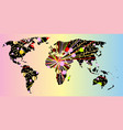 world map new year vector image