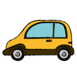 yellow car sport transport vector image