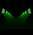 green stage lights background vector image