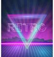 1980 Neon Poster Retro Disco 80s Background made vector image
